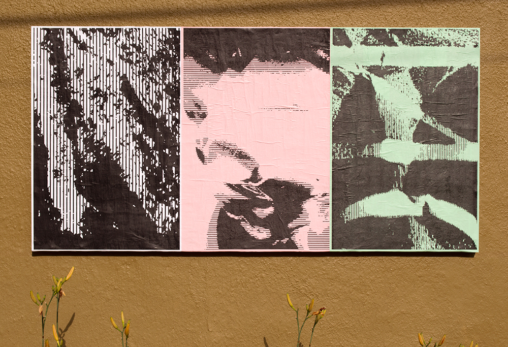 "Mary Yudina (Мария Юдина), Ficciones Typografika 602-604 (24""x36""). Installed on August 7, 2014."