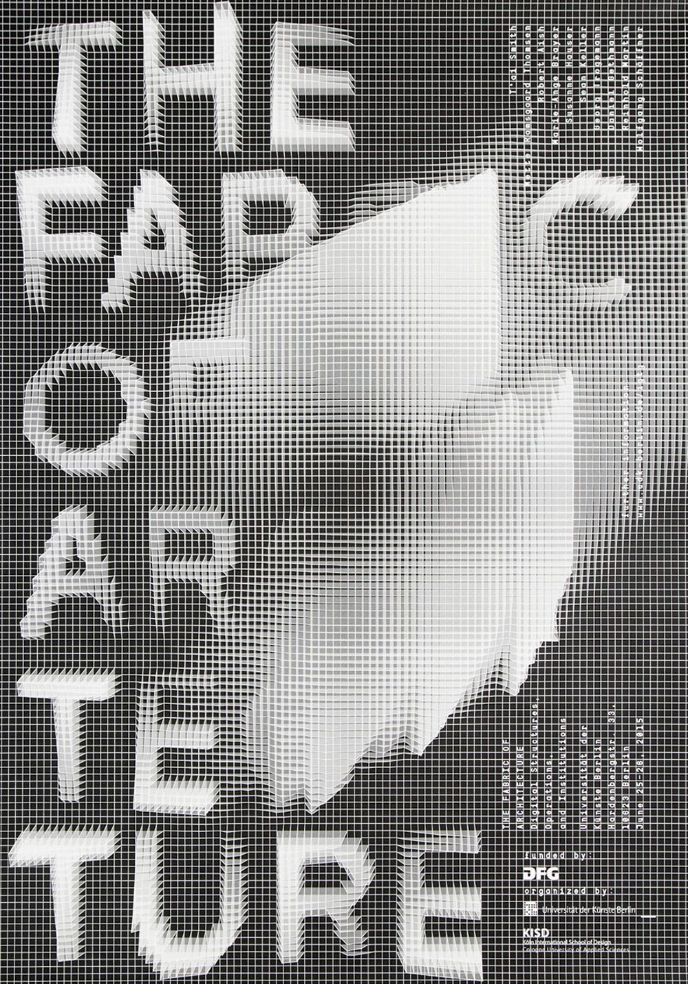 Poster design for architecture -  The Fabric Of Architecture Poster Design Made In Berlin Waaterkant