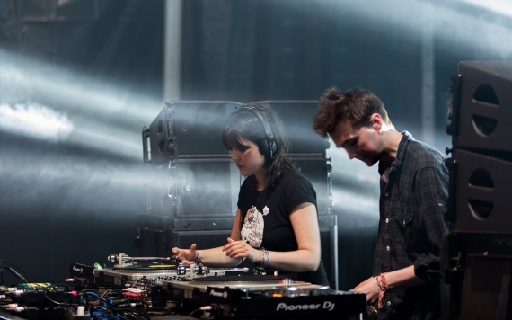 Helene Hauff and Ben UFO at Sonar Festival