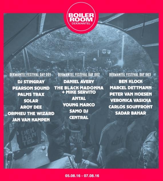 Dekmantel Festival 2017 - Boiler Room Stage