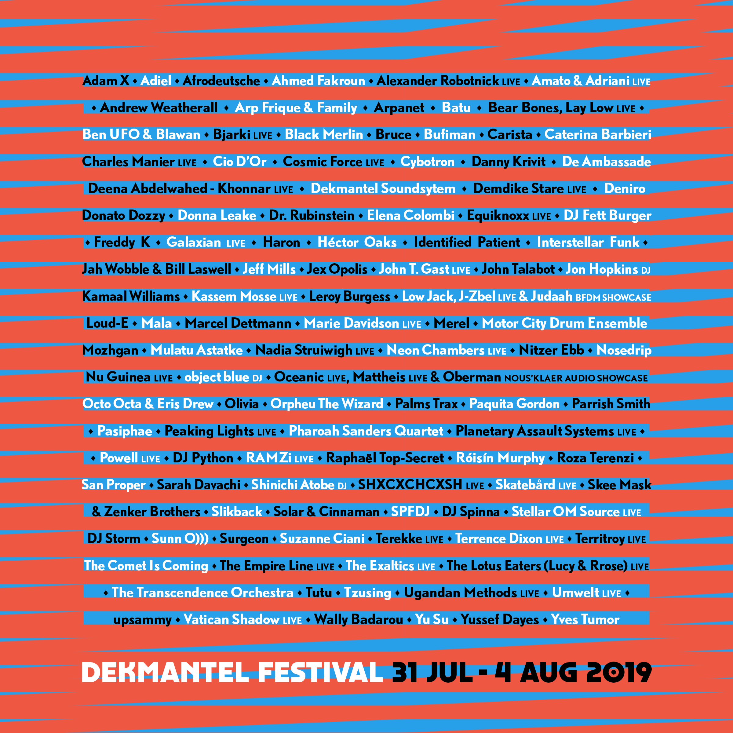 Dekmantel Festival 2019 - Lineup